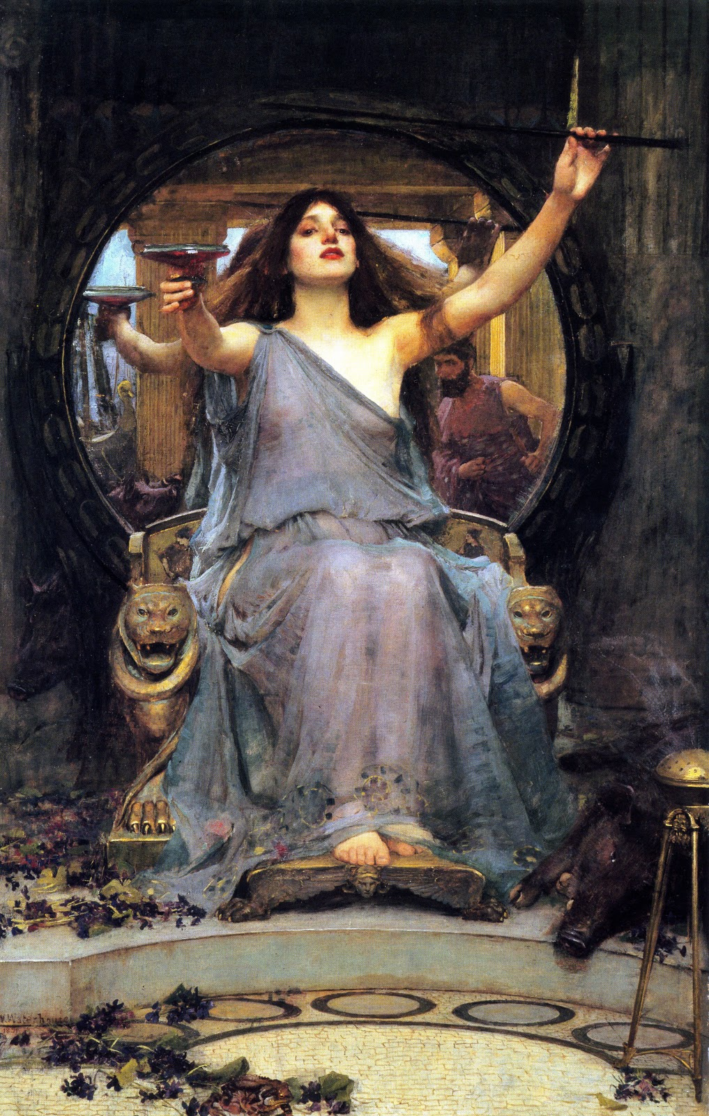 Circe And Odyss... Odysseus In The Underworld In The Movie