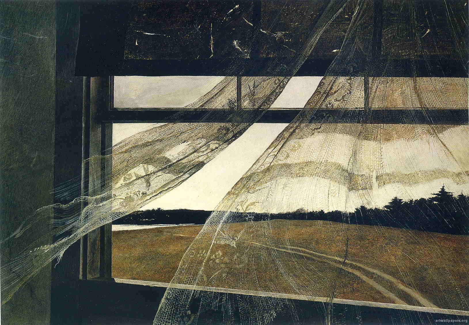 Haunting Paintings Wind From The Sea By Andrew Wyeth