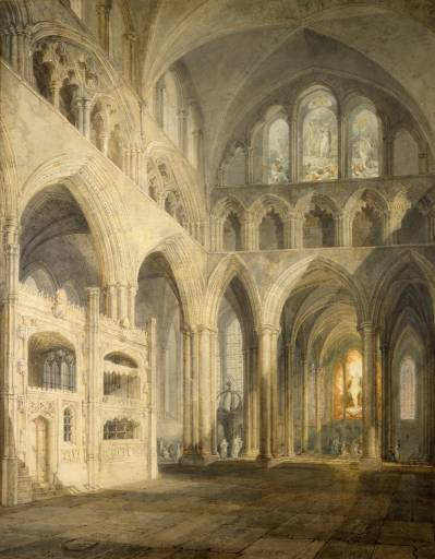 Choir of Salisbury Cathedral exhibited 1797 by Joseph Mallord William Turner 1775-1851