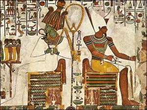 Osiris_and_Atum_seated_with_Offerings