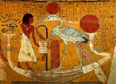 Benu bird from an Egyptian papyrus