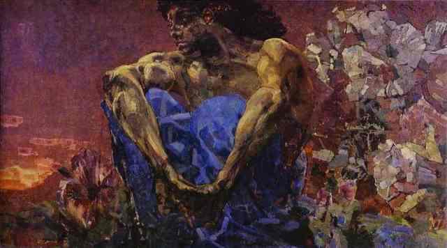"Mikhail Vrubel, ""Demon Seated"""
