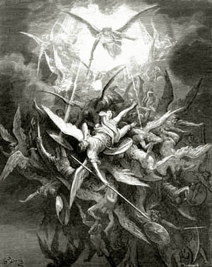"Gustave Doré, ""Lucifer Is Cast Out of Heaven"" (from Milton's Paradise Lost)"