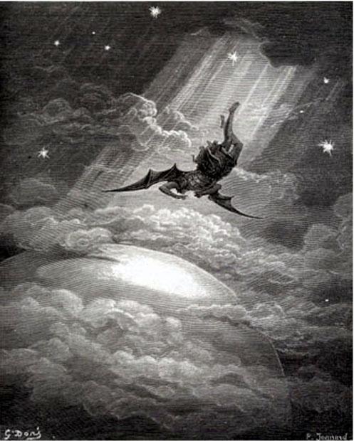 "Gustave Doré, ""Satan Falls"" (Milton's Paradise Lost)"
