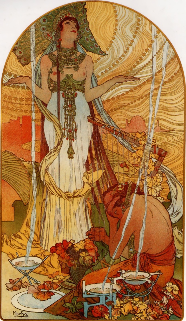 "Alphonse Mucha, ""Peacock Princess"""