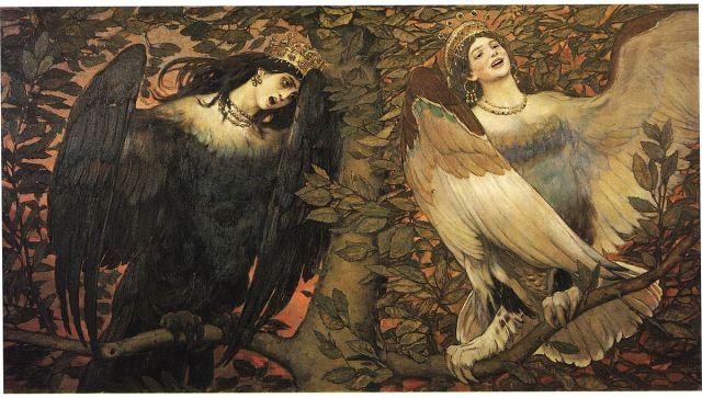 "Viktor Vasnetsov, ""Sirin and Alkonost: the Birds of Joy and Sorrow"""