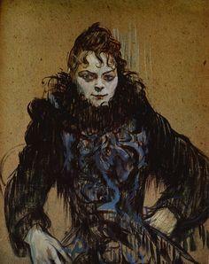 """Henri de Toulouse Lautrec, """"La femme au boa noir"""""""
