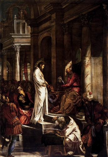"Tintoretto, ""Christ before Pilate"""