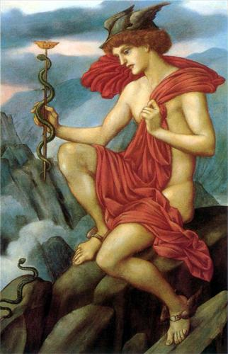 "Evelyn de Morgan, ""Mercury"""