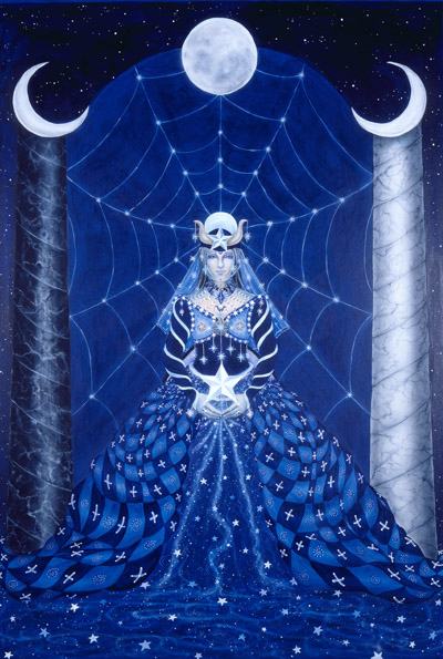 "Cathy Mcclelland, ""The High Priestess,"" via http://www.cathymcclelland.com/enlarge_htm_pages/Tarot/high_preistess.htm"