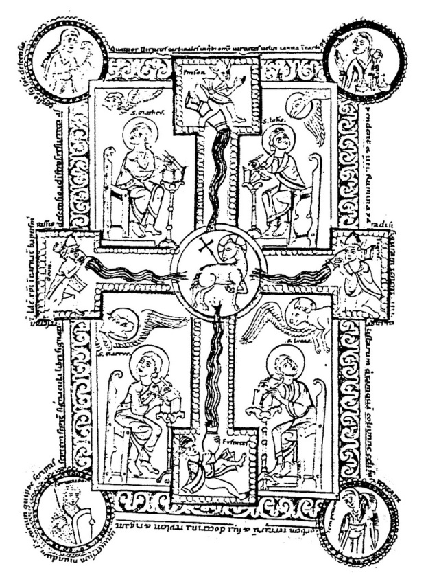 Image from a twelfth century breviary in the monastery of Zwiefalten, Germany.
