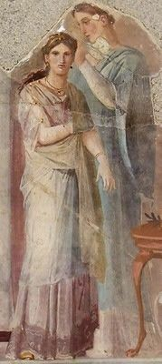 Dressing a priestess or bride,found in the palaestra of the Forum Baths at Herculaneum