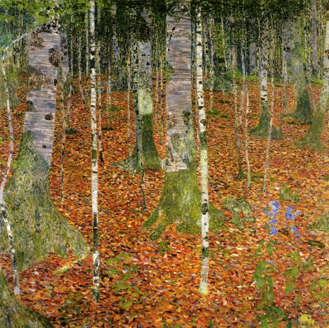 "Gustav Klimt, ""Farmhouse with Birch Trees"""
