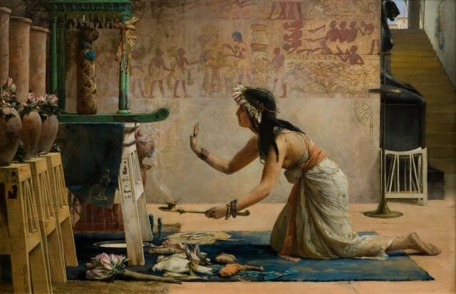 """John Weguelin, """"The Obsequies of an Egyptian Cat"""""""