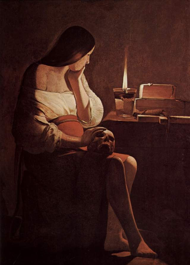 "Georges de la Tour, ""Mary Magdalene with a Night Light"""