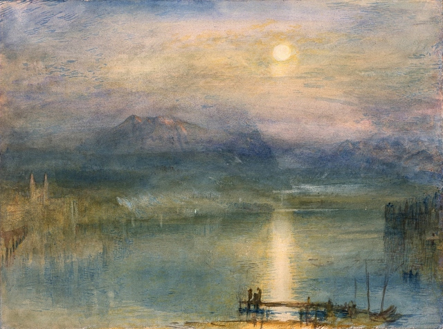 "J.M.W. Turner, ""Moonlight on Lake Lucerne"""