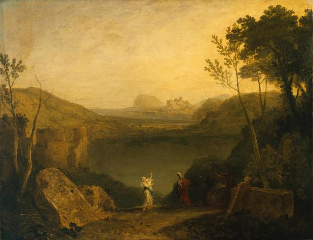 "J.M.W Turner, ""Aeneas and the Sibyl, Lake Avernus"""