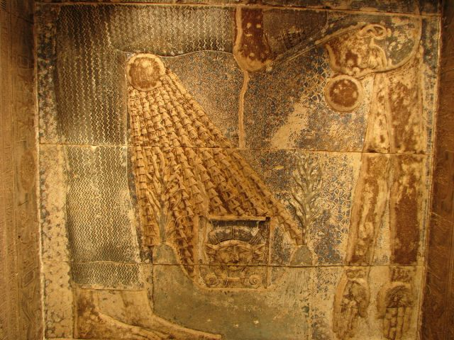 Birth of the sun in Hathor Temple at Dendera, via Wikipedia