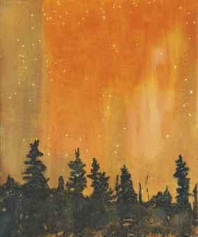 """Peter Doig, """"Orange Forest"""""""