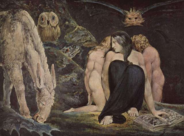 "William Blake, ""The Triple Hecate"""