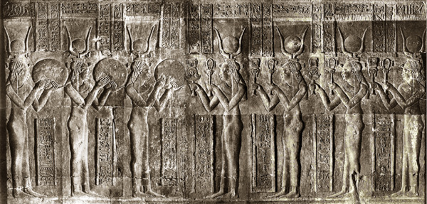 The Seven Hathors from the Temple of Dendera
