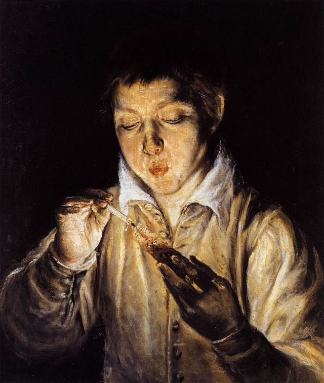 800px-El_Greco_-_A_Boy_Blowing_on_an_Ember_to_Light_a_Candle_(Soplón)_-_WGA10422