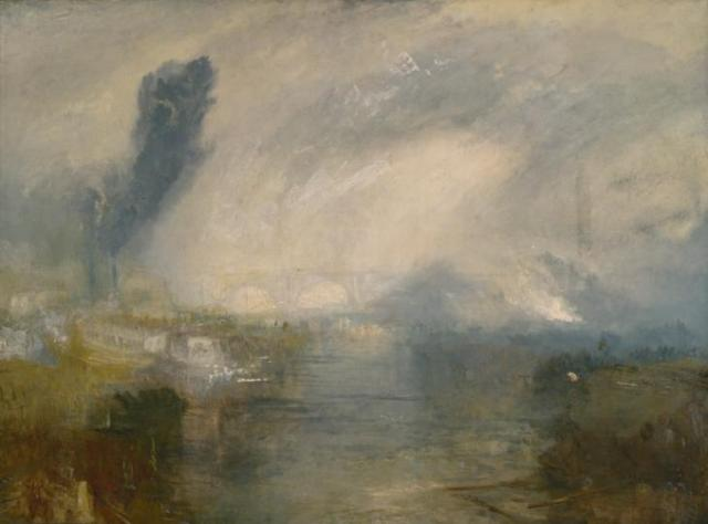 The Thames above Waterloo Bridge c.1830-5 by Joseph Mallord William Turner 1775-1851