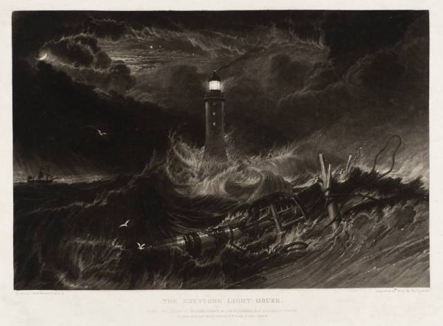 The Eddystone Lighthouse 1824 by Joseph Mallord William Turner 1775-1851