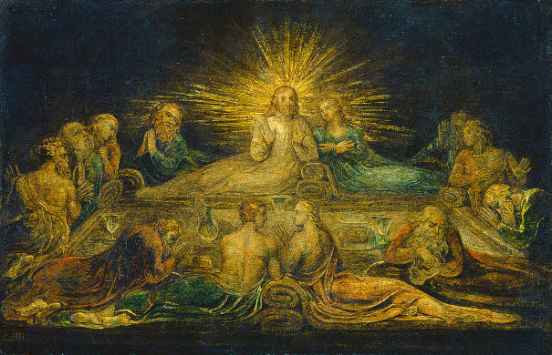 William_Blake_The_Last_Supper_1799_tempera